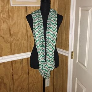 Green and gray scarf